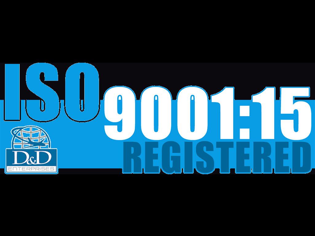 D&D Enterprises of Greensboro ISO 9001:15